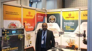 Uniphos Envirotronic Inc exhibit at ADIPEC